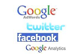 SEO Google Adwords Analytics facebook twitter